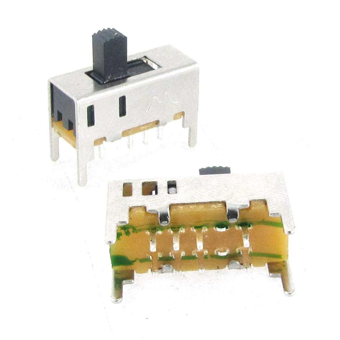 5 Pcs DC 50V 0.5A 3 Position DP3T 2P3T Mini Vertical Slide Switch 8 Pin PCB DIY