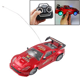 Flash Light RC Radio Remote Control Music Car Red Toy for Children