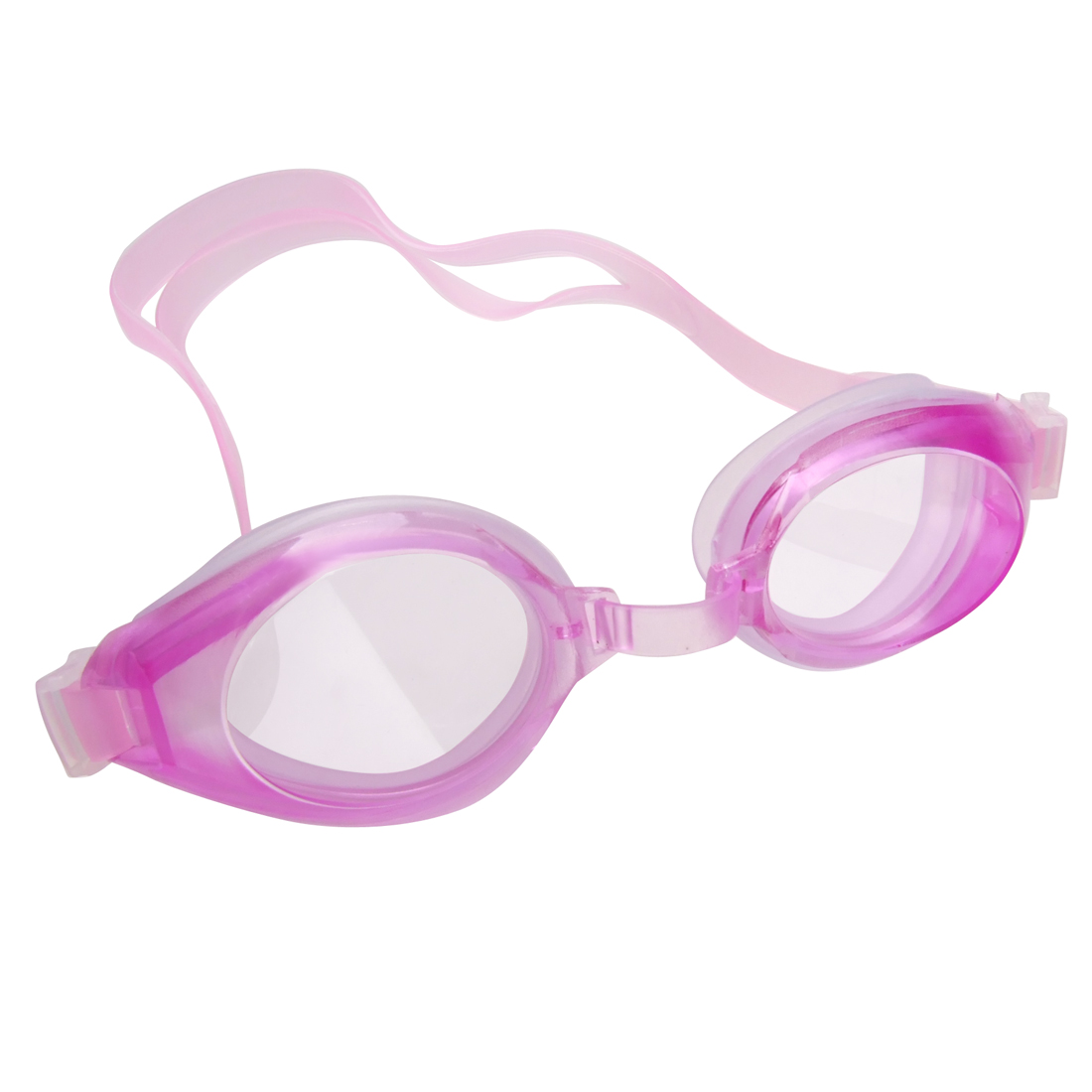 Kids Light Purple Elastic Strap Plastic Swimming Goggles