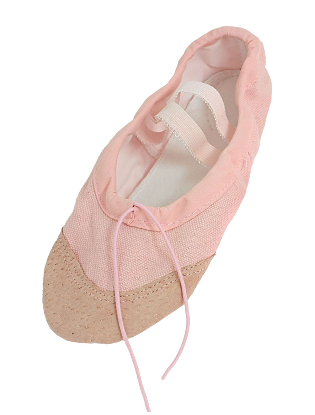 EU 35 Pink Drawstring Top Split Sole Canvas Ballet Shoes for Girls