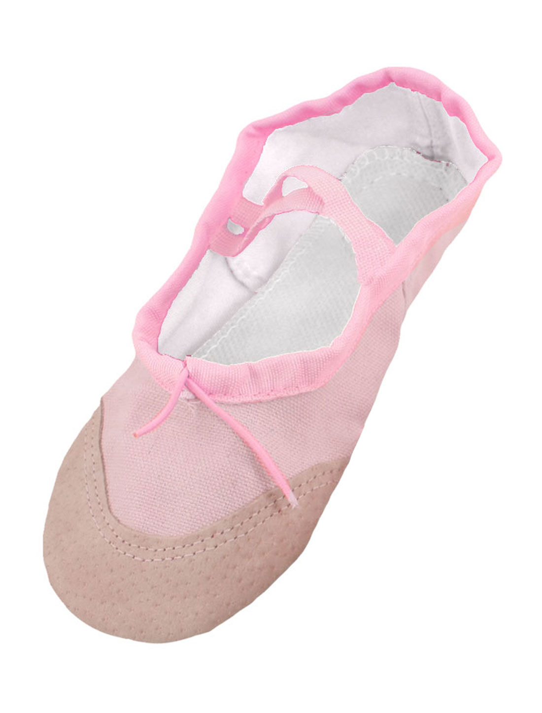 Girls Pink Elastic Drawstring Ballet Dance Flats Shoes EU 30