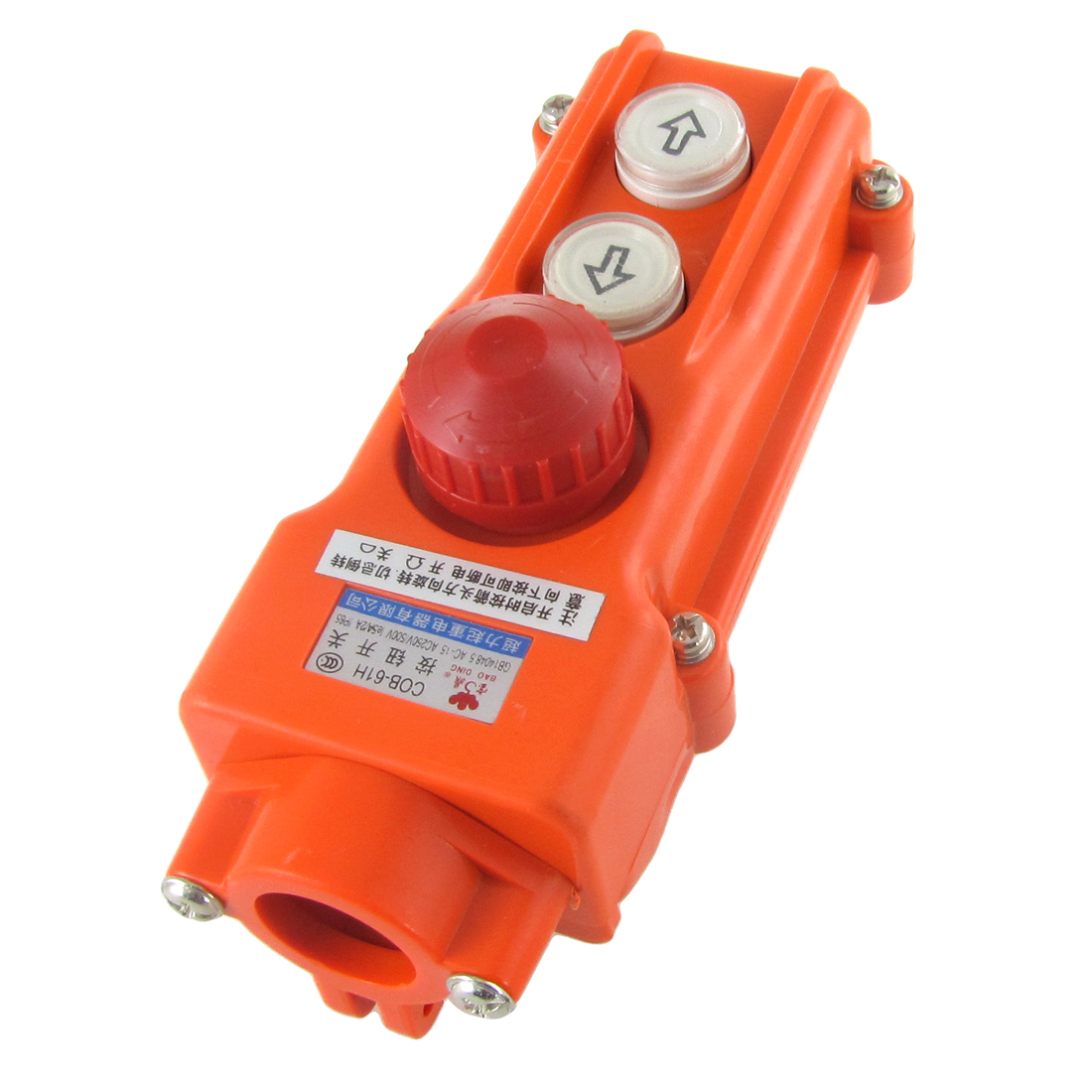 Rainproof Hoist Crane Pushbutton Switch Up Down w Emergency Stop 250V 5A 500V 2A