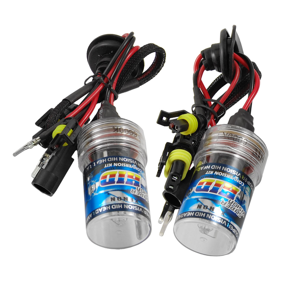 2 Pcs Vehicles 6000K 35W H11 Wired HID Xenon Headlight Bulbs DC 12V