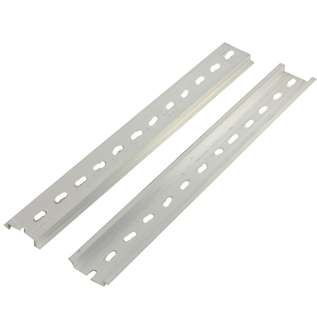15 Pcs 35mm Width Slotted Design Aluminum DIN Rail 250mm 9.8""