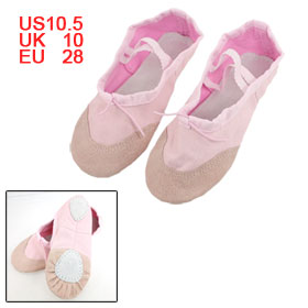 Girls Darwstring Top Elastic Band Canvas Ballet Flats Shoes Pink EU 28