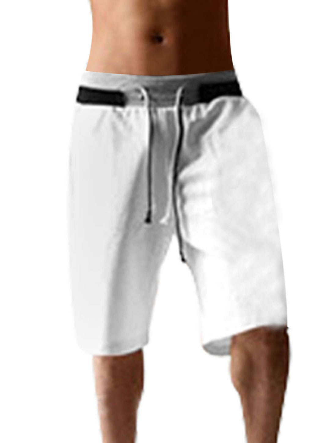 New Fashion Mens Casual Sport Rope Short Pants Jogging Trousers White W34