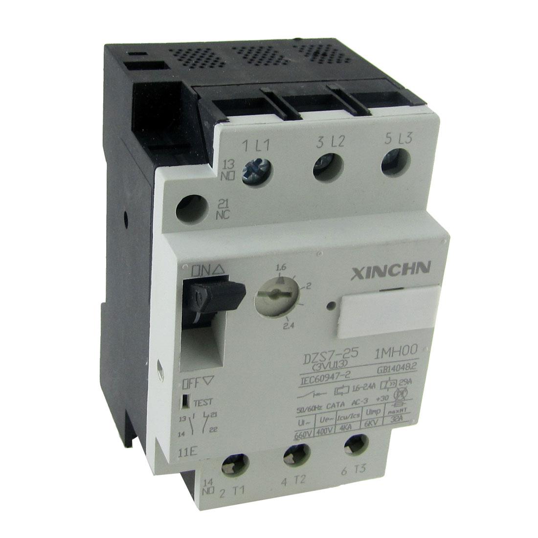 DZS7-25 3VU13 1.6-2.4A 25A Motor Protection Circuit Breaker