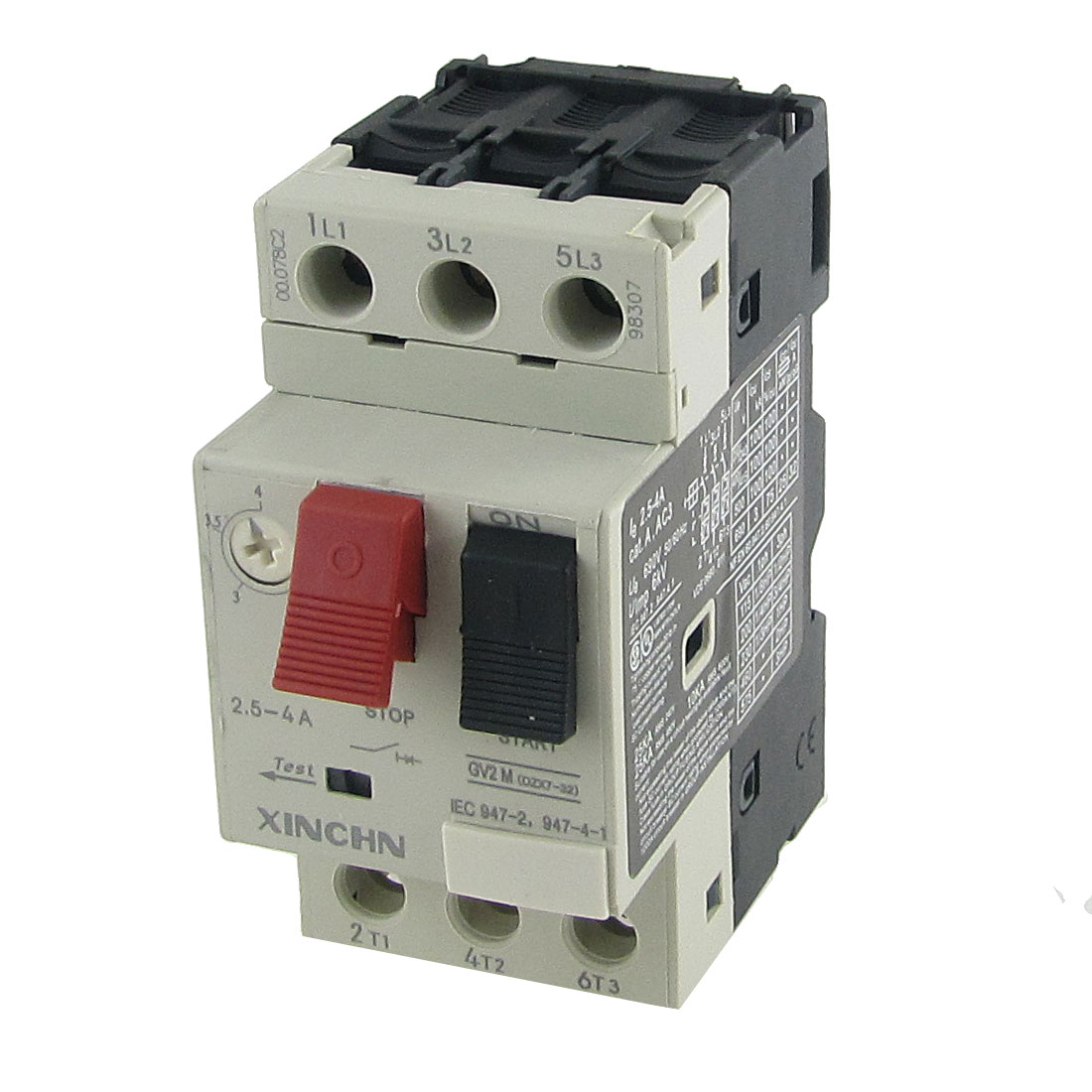 690V 2.5-4A Thermal Motor Protector Circuit Breaker 3 Pole