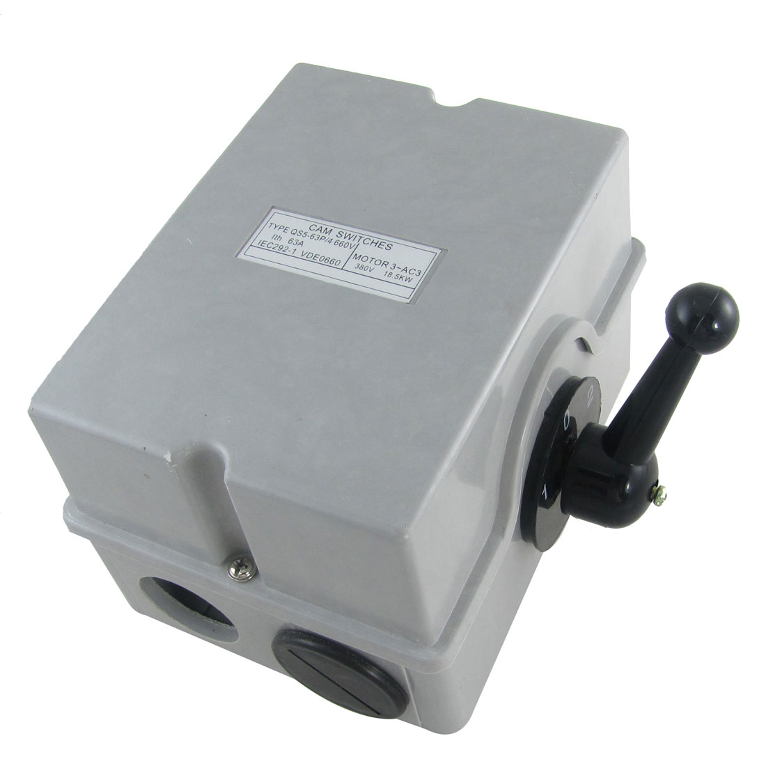 AC 380V 18.5KW ON/OFF/ON Cam Starter Changeover Switch QS5-63P/4