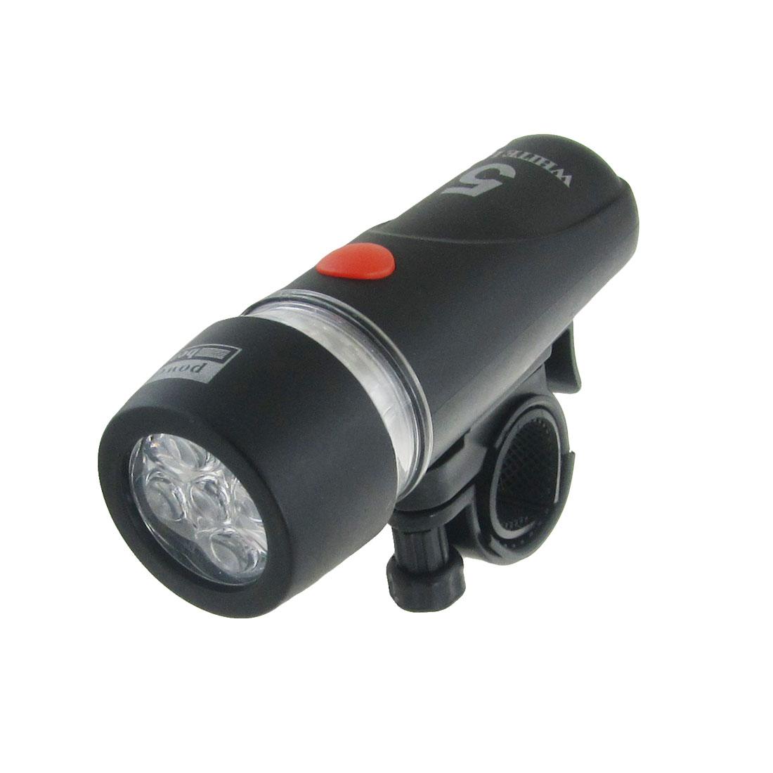 Bike Bicycle White LED Flashing Light Headlight Torch Black