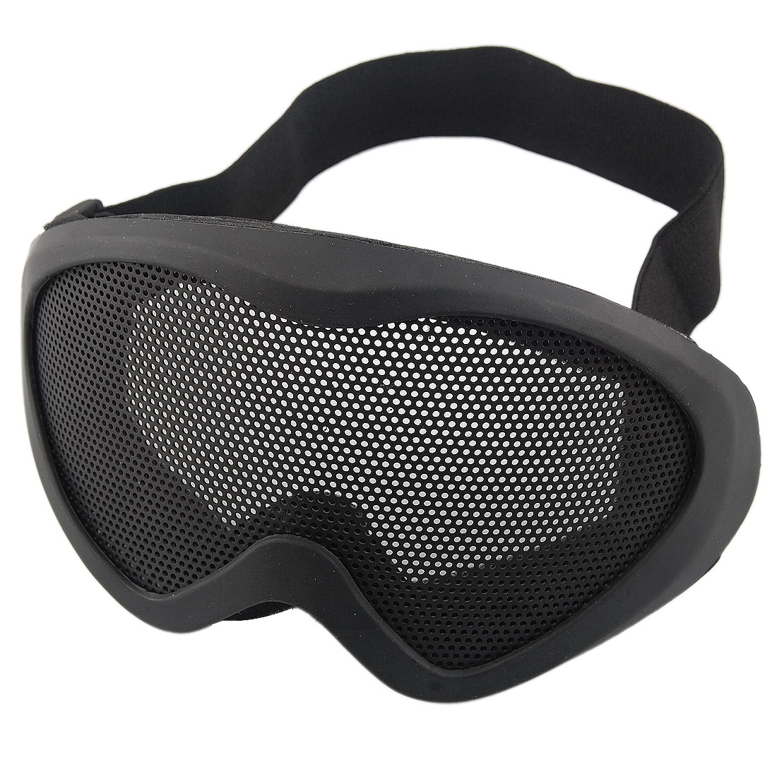 Women Men Wargame Black Elastic Head Strap Foam Cover Mesh Goggles