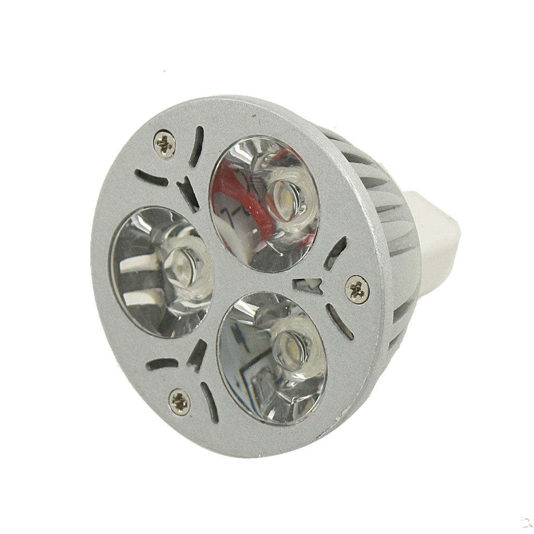 3W MR16 Base 3x1W LED White Lamp Bulb Spotlight Downlight 6000K 12V