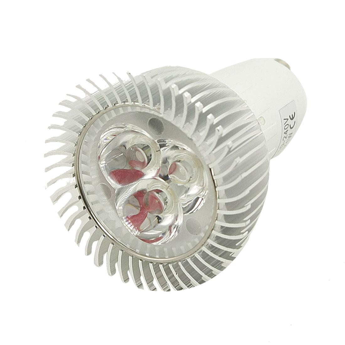 AC 110-240V Energy Saving 3x1W LED Warm White Spot Light Lamp GU10 3000K 3W