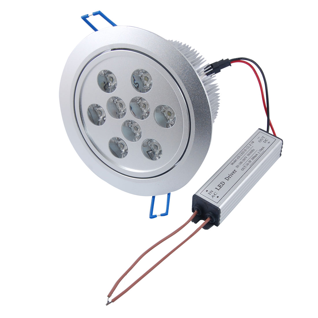 White 9W 9 LED Cabinet Ceiling Down Light Recessed Lamp Bulb AC 100-265V
