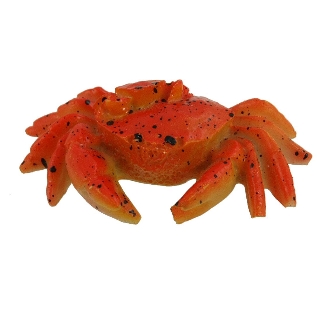 Aquarium Simulated Little Crab Inlaid Brachyura Ornament Orange Red