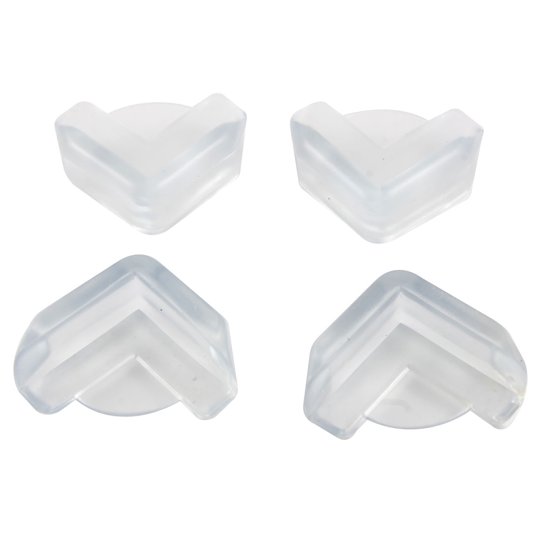4 Pcs Home Soft Safe Cabinet Table Desk Corner Guard Protector Clear