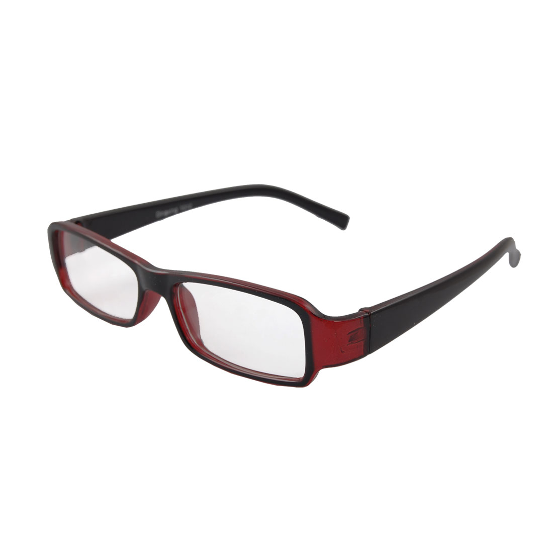 Clear Burgundy Full Frame Plastic Clear Lens Glasses for Women
