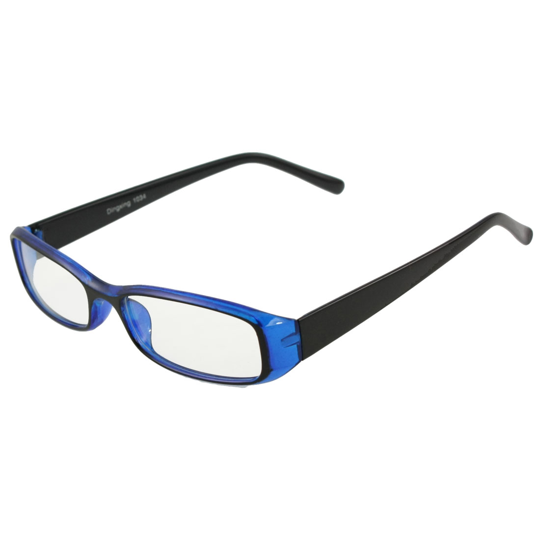 Woman Man Clear Lens Black Blue Frame Eyewear Spectacles Plain Glasses
