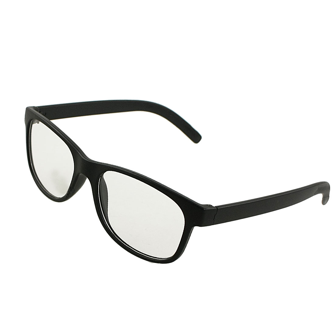 Single Bridge Black Plastic Frame Oversize Clear Lens Unisex Plain Glasses