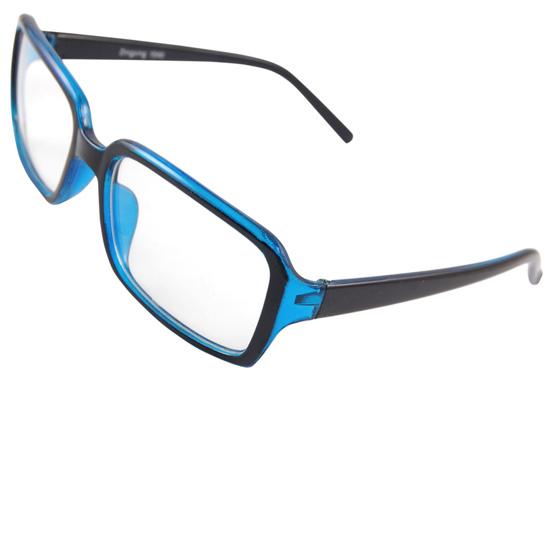 Plastic Full Frame Arms Clear Blue Plain Plano Eyeglasses for Women