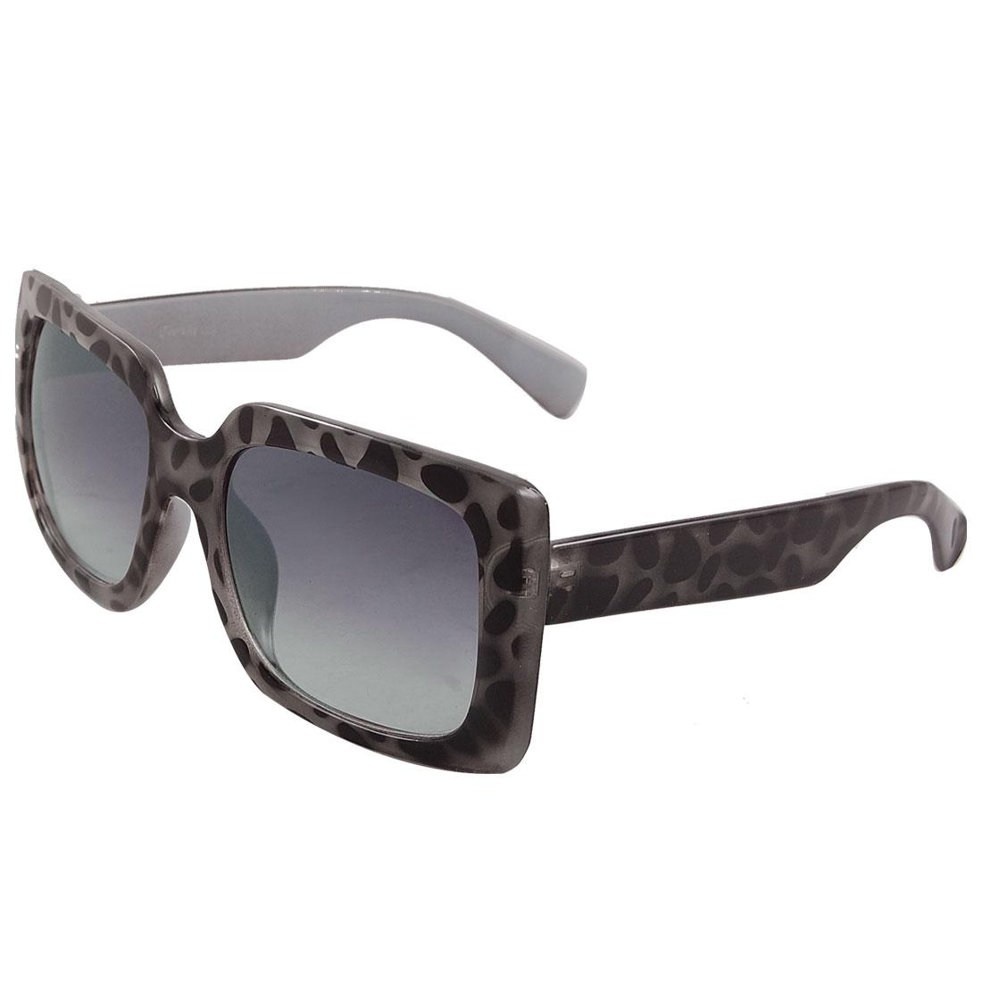 Women Leopard Pattern Wide Arms Full Frame Sunglasses