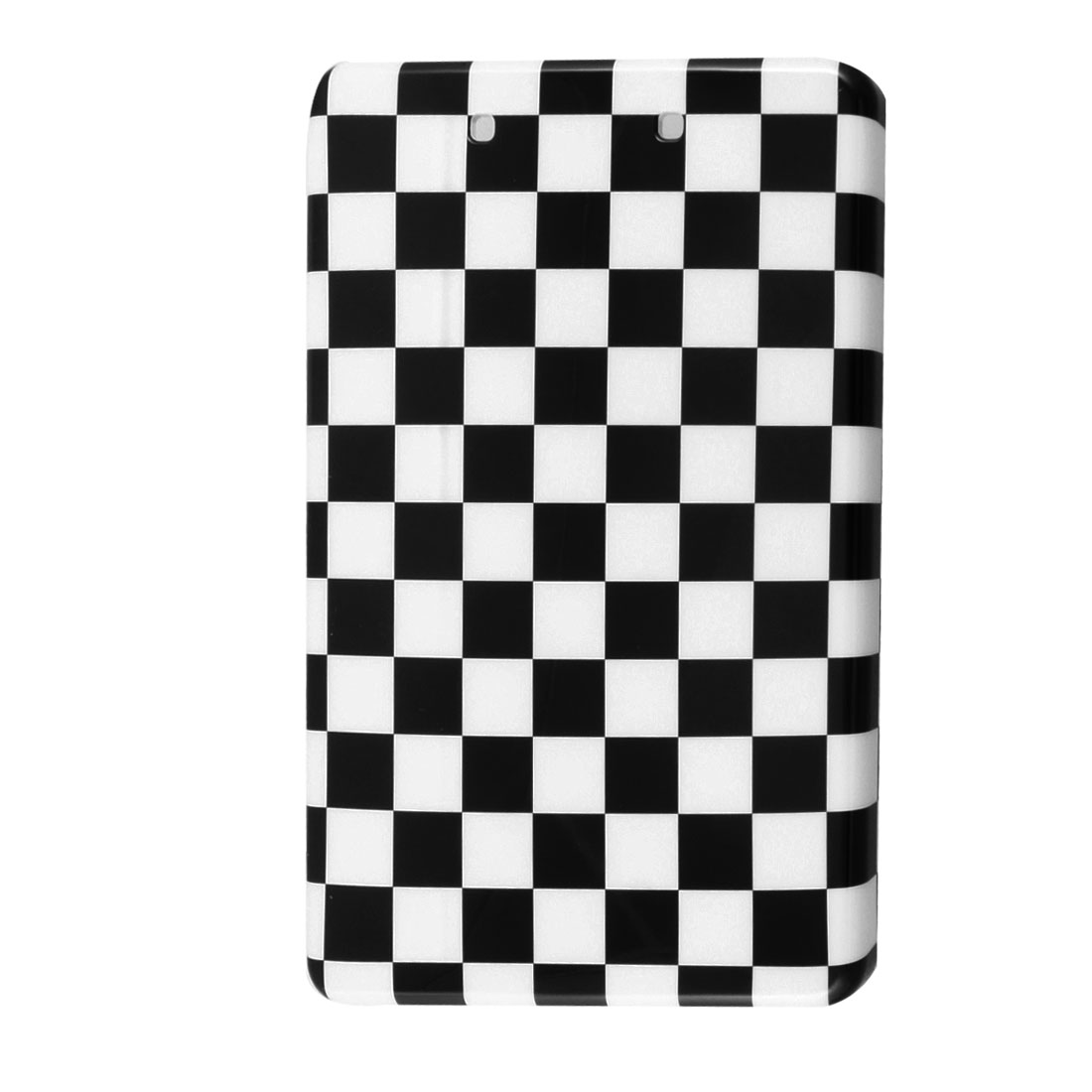 Black White Checker Hard Plastic Back Case for Amazon Kindle Fire