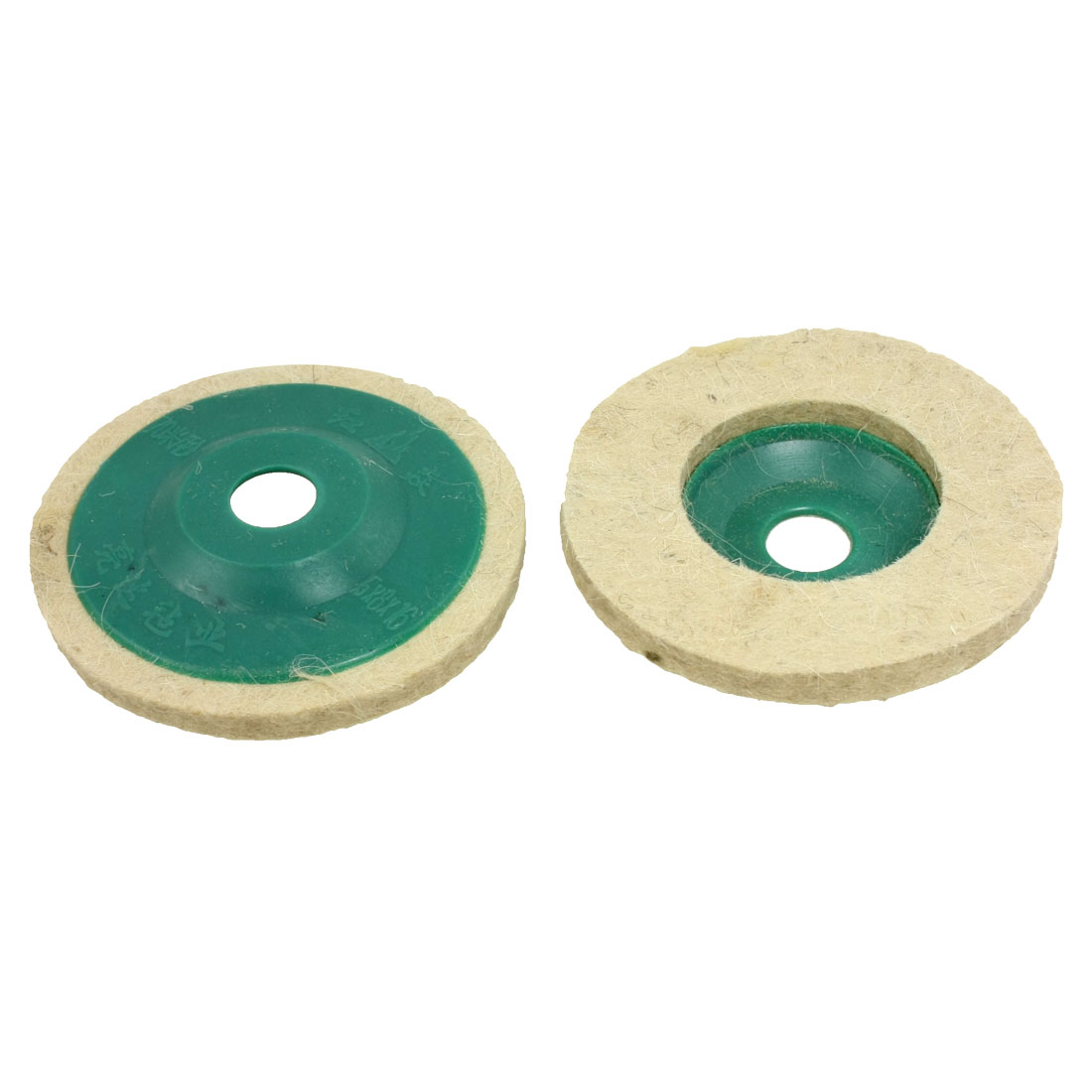 "Pair 3.7"" Outer Dia Wool Felt Polishing Wheel Sanding Disc for Metal"