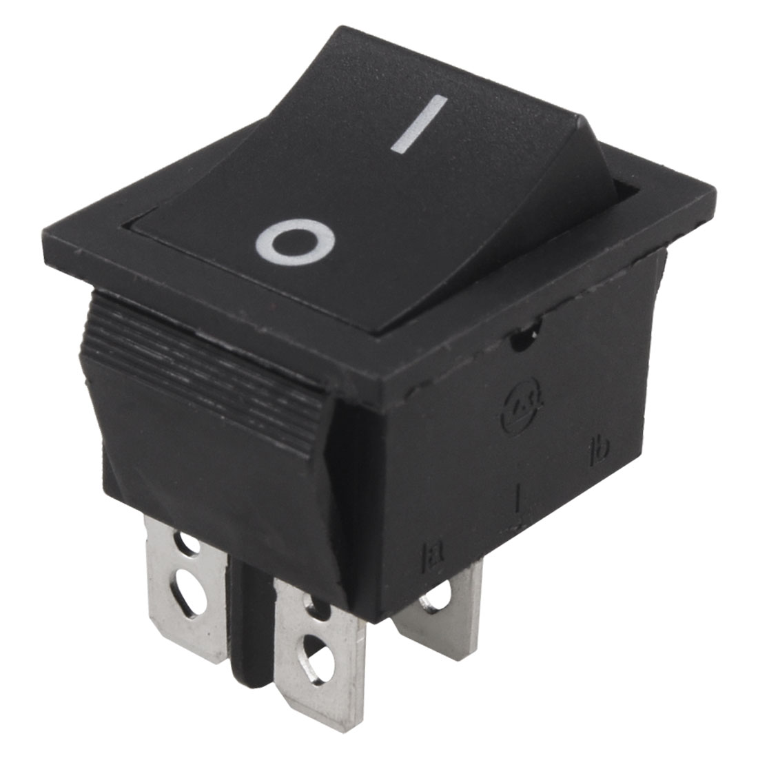 AC 250V 15A 4 Pin ON-OFF I/O 2 Position DPST Snap in Boat Rocker Switch Black