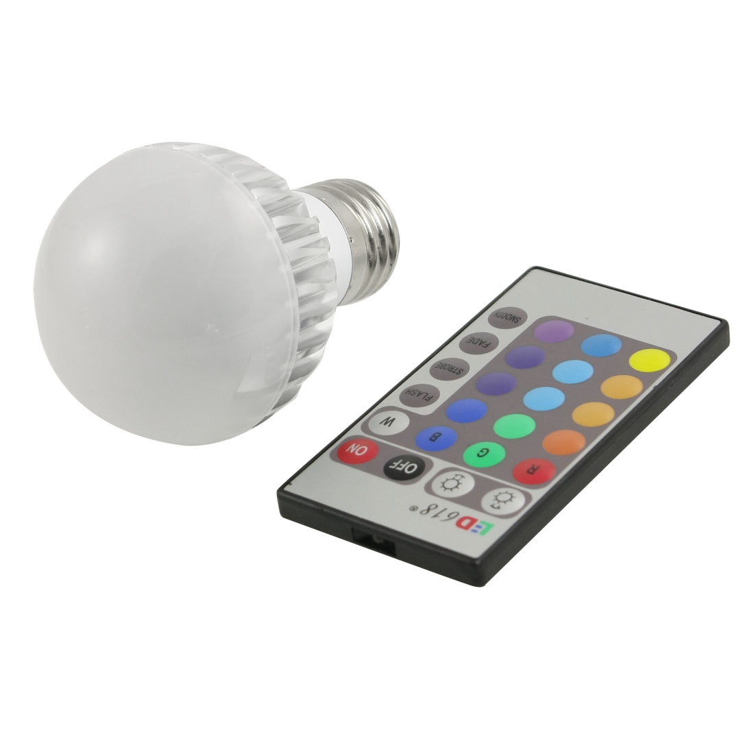 AC 85-265V 5W E27 Socket RGB Light Remote Control LED Energy Saving Bulb