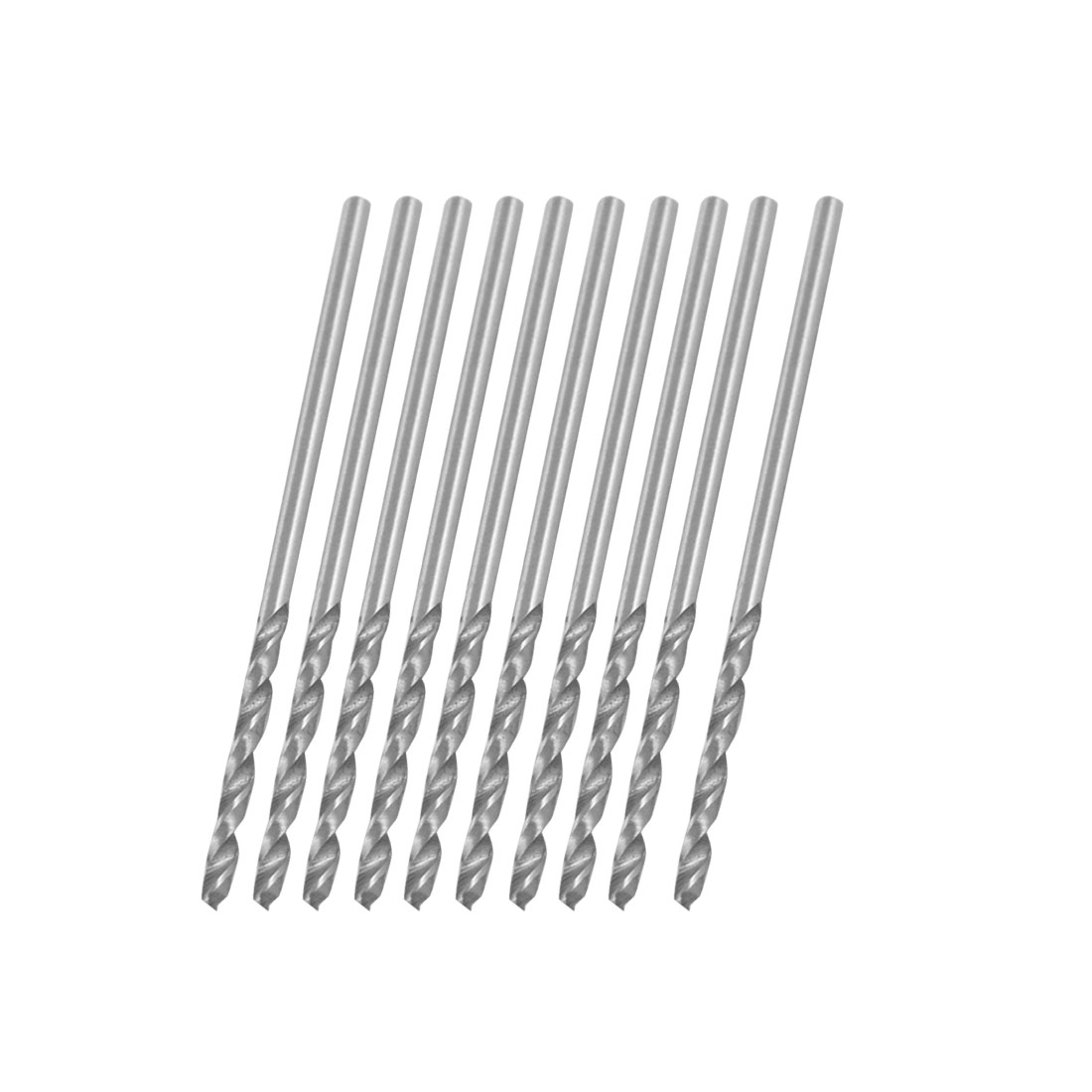 10 Pcs 1.25mm Straight Shank Spiral Twist Drill Bit