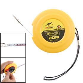Yellow Plastic Case 2000cm 20M Length Retractable Steel Ruler Tape Measure