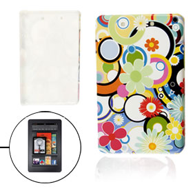 Colorful Flowers Circles Pattern Hard Plastic Back Cover for Amazon Kindle Fire