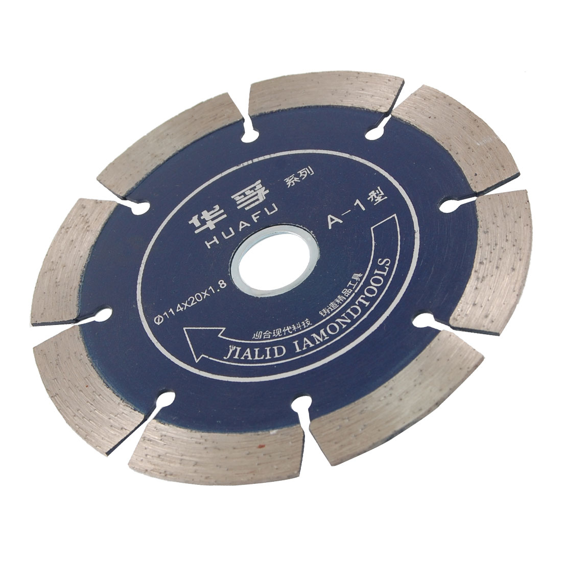 114mm x 20mm x 1.8mm Circular 8 Segments Crack Diamond Saw Blade