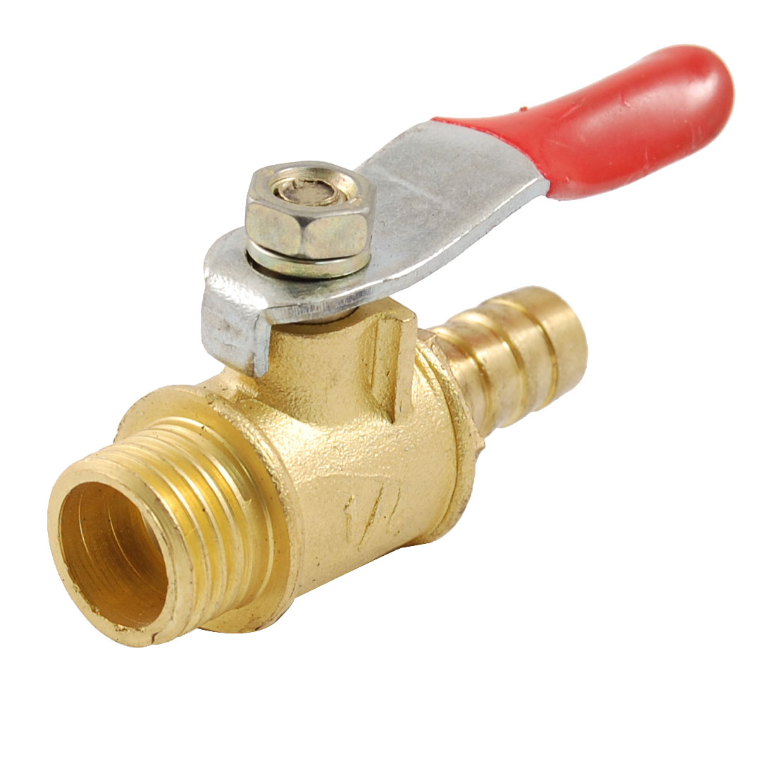 "Pneumatic Fitting 1/4"" PT M Thread to 3/10"" Hose Tail Ball Valve"