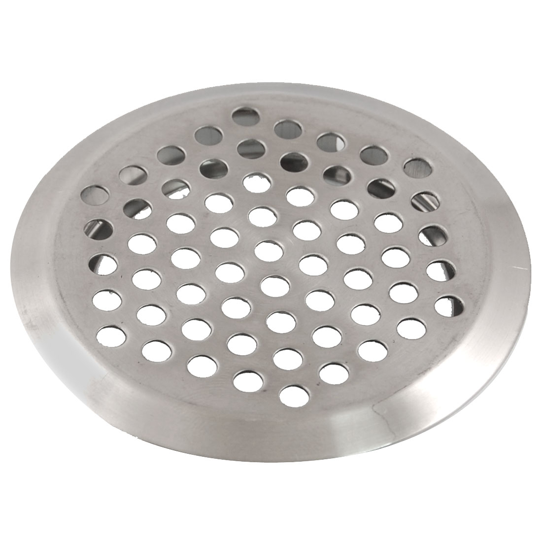Kitchen 65mm Dia Stainless Steel Perforated Round Air Vent Louver