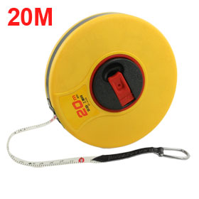 20M Yellow Plastic Cover Measuring PU Tape Retractable Line Measure
