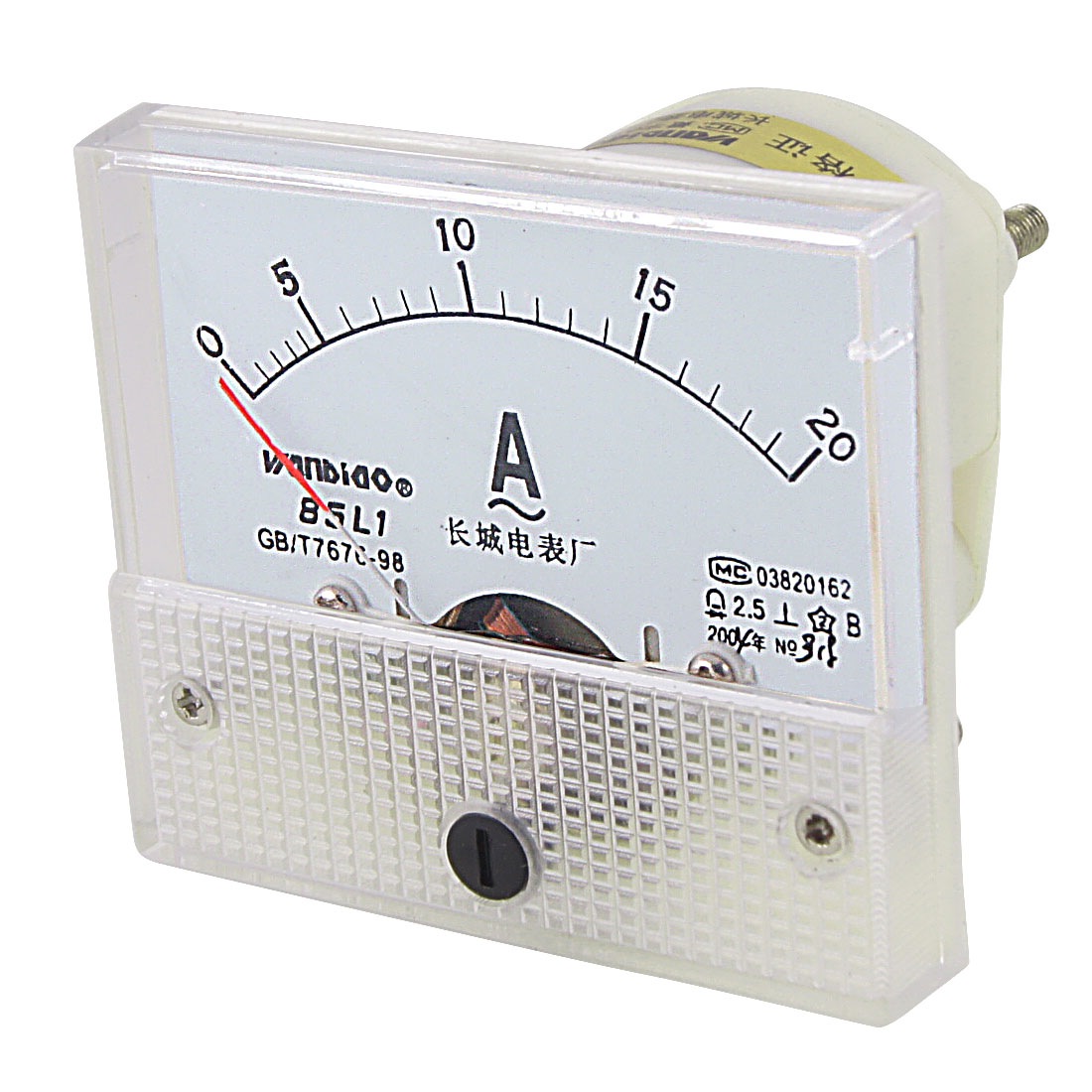 Class 2.5 Accuracy AC 0-20A Analog Panel Meter Ammeter