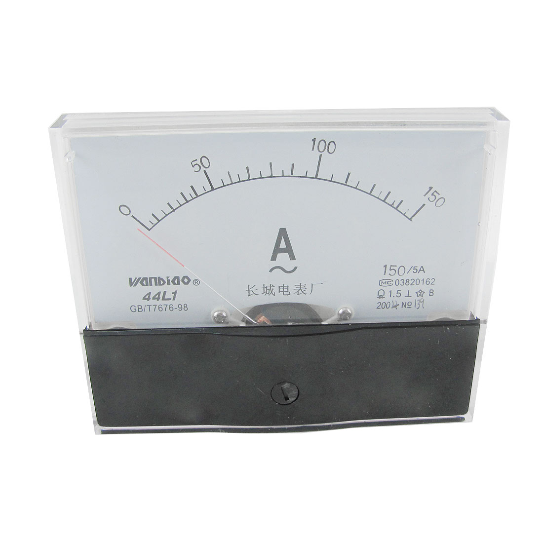44L1-150A Rectangle Panel AC 150A Analog Meter Current Ammeter