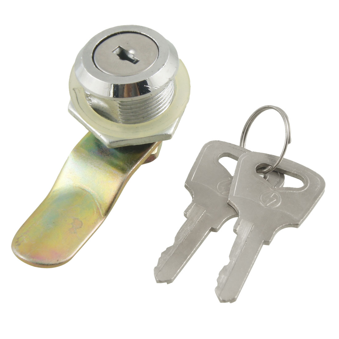 "Cabinet Door 0.85"" Threaded Dia Metal Cam Lock w 2 Keys"