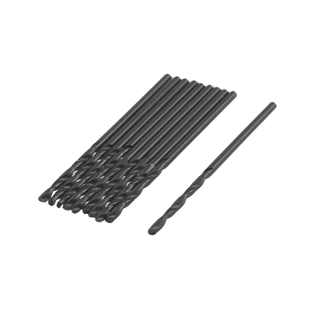 Straight Shank 1.5mm Dia Drilling Hole HSS Twist Drill Bit 10 Pcs