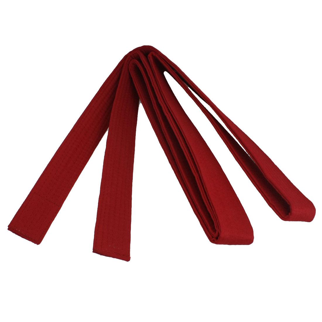 9Ft Length Martial Arts Karate Taekwondo Judo Dark Red Nylon Band Belt