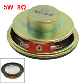 "50mm 2"" Dia. Magnetic Type Aluminum Shell Round Speaker 8 Ohm 5W"