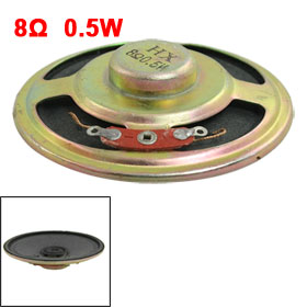 "2.2"" Diameter Round Internal Magent Speaker Trumpet Horn 8 Ohm 0.5W"