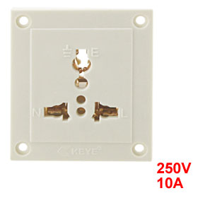 10A 250V 3 Pin EU UK US Plug Socket Outlet Wall Plate