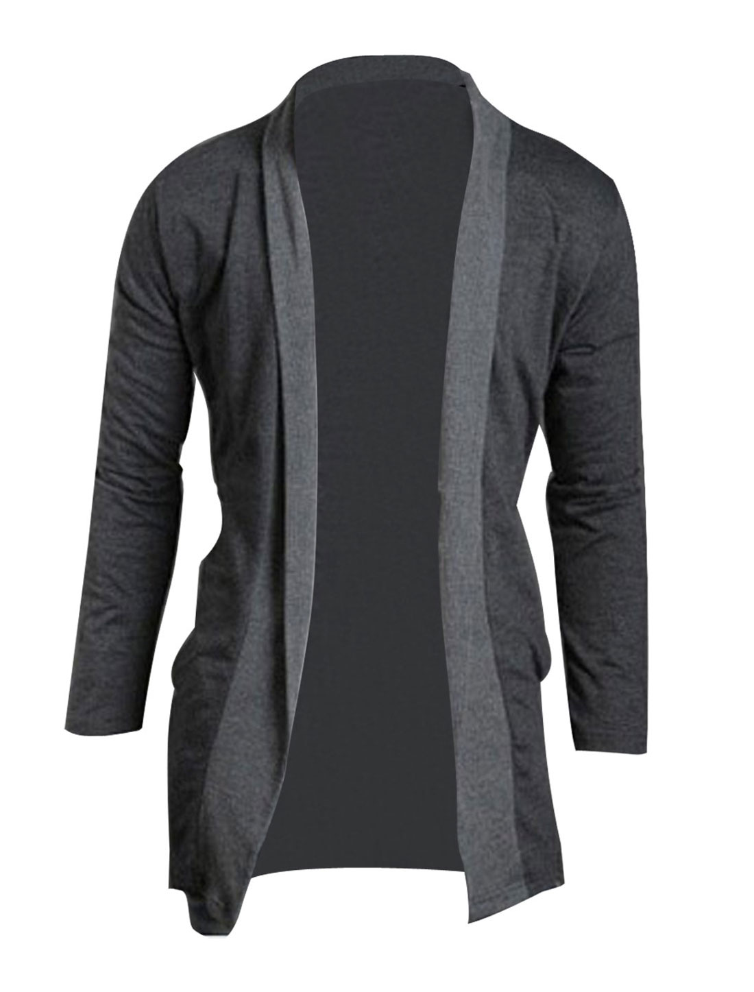 Mens Stylish Slim Fit Jackets Coats Casual Outerwear Dark Gray S