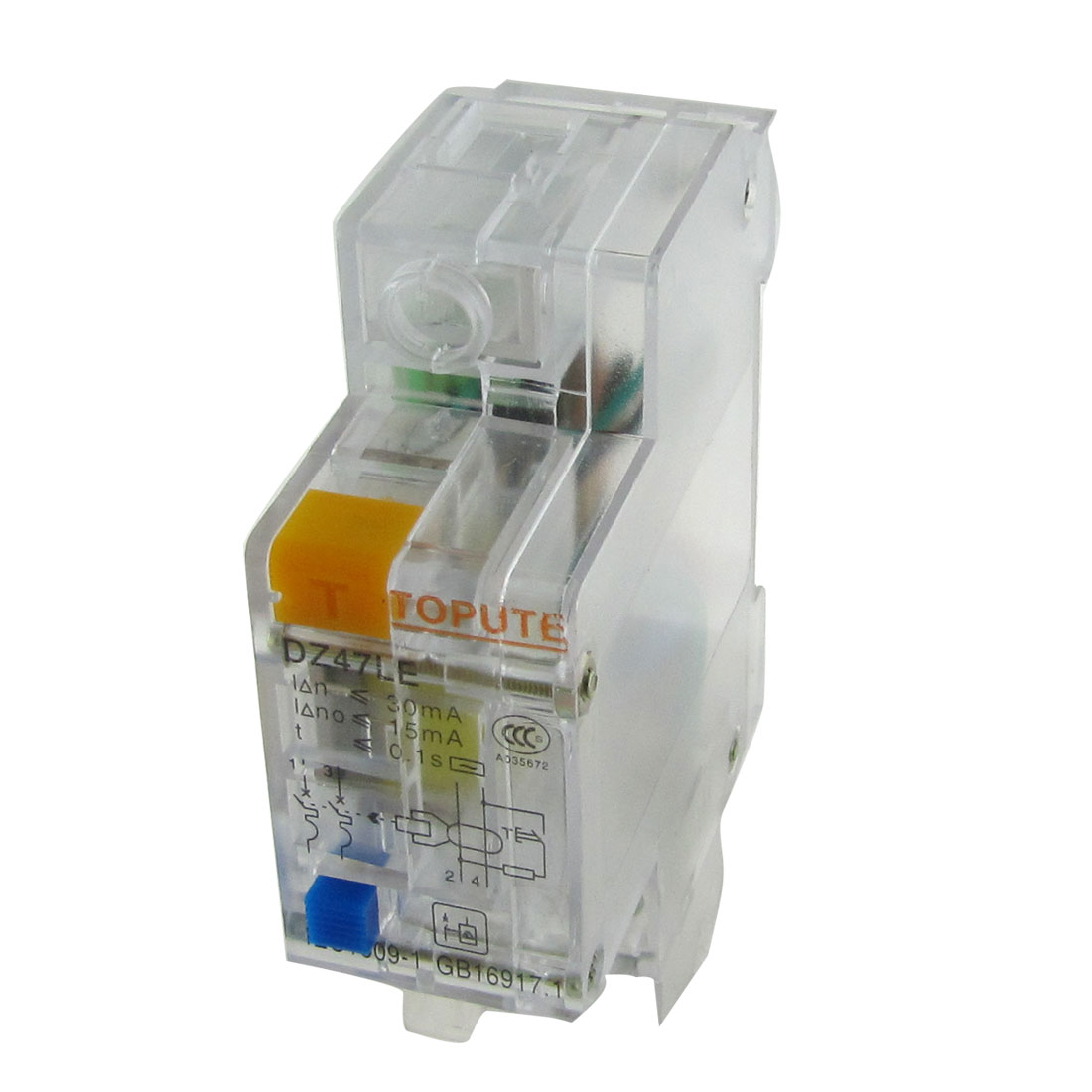 Transparent Double Poles 2P ELCB Earth Leakage Circuit Breaker