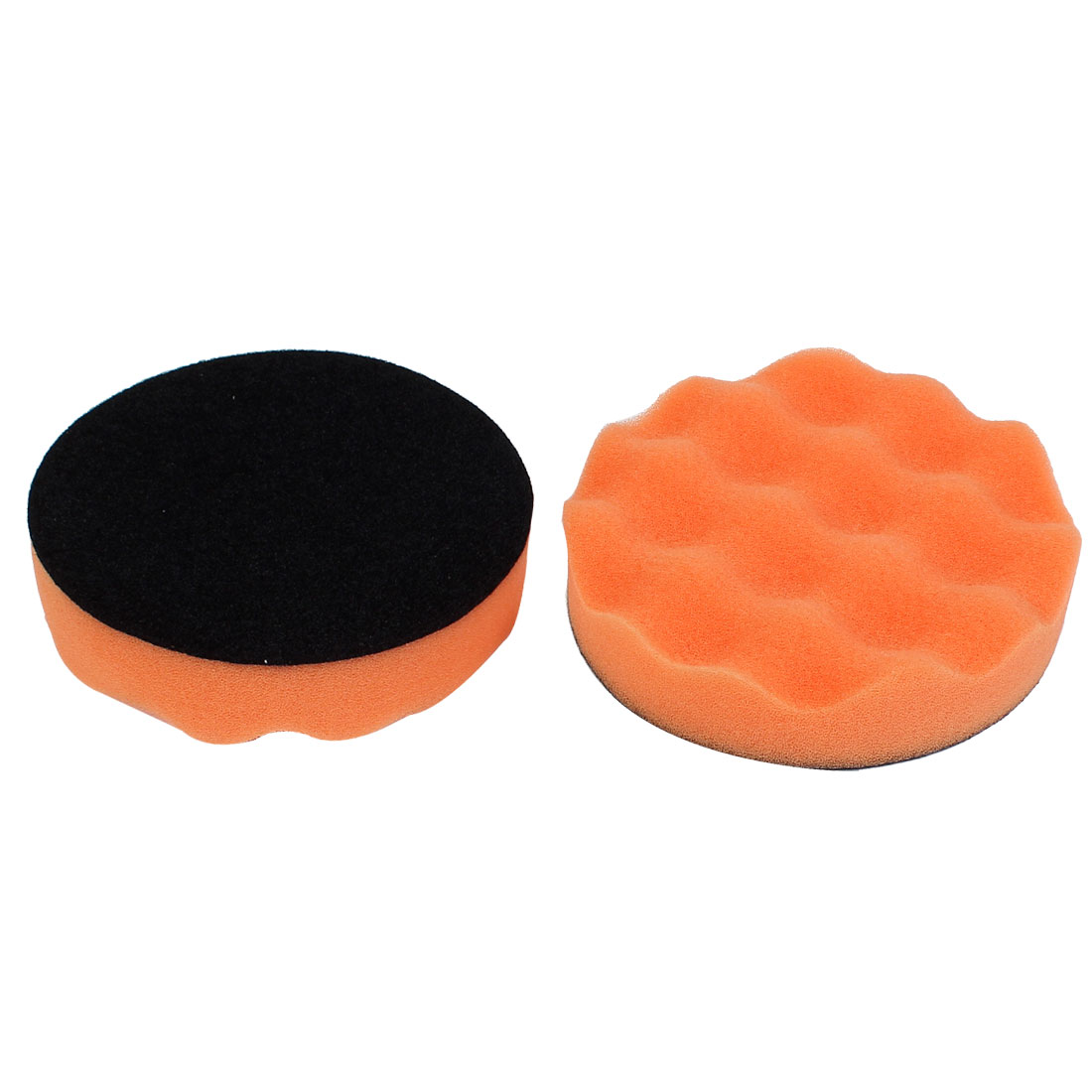 "Car Detailing 5"" x 1"" Wave Cut Polishing Sponge Mop Pad Polisher 2 Pcs"
