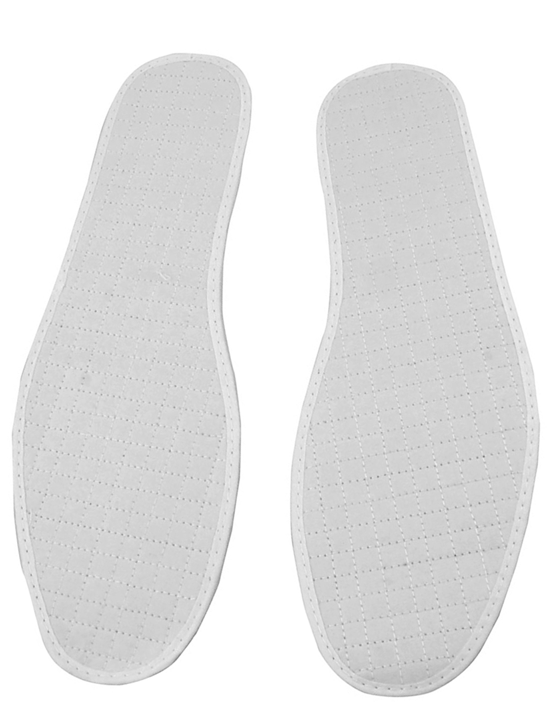 Pair Square Pattern Sweat-absorb Nonslip Design Shoe Pad Insole EU 42.5 for Men