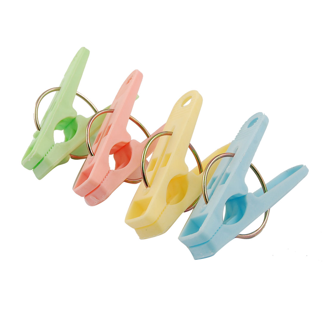Colorful Plastic Laundry Clothes Pins Hanging Clips Hooks 20 Pcs