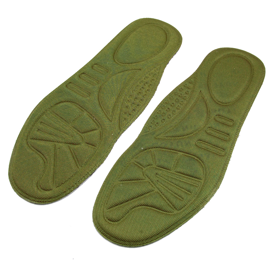 Pair Sweat-absorb Nonslip Design Shoe Pad Insole Army Green Black EU 40.5 for Men